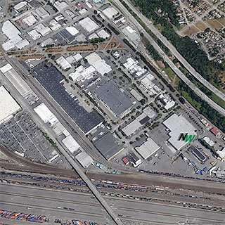 Northwest Container Services Inc. Seattle, Washington aerial view